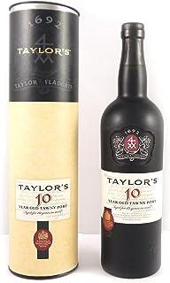 """Taylor Fladgate 10 year old Tawny Port 75cls in Taylor""""s Gift Tube in einer Geschenkbox. Da zu vier Wein Zubehör, Korkenzieher, Giesser, Kapselabschneider, Weinthermometer"""