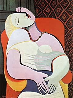 Pablo Picasso - The Dream, Size 24x32 inch, Poster Art Print Wall décor