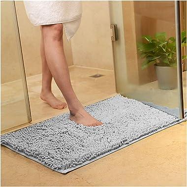 Alfombrillas de baño de chenilla suave, alfombra de estera antideslizante de todo tamaño para la cocina de la sala de estar d