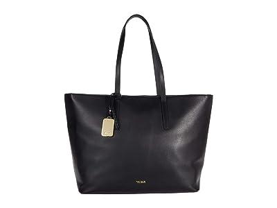 Tumi Voyageur Everyday Leather Tote (Black) Handbags