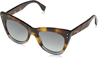 Fendi Women's Ff 0238/S 9O Sunglasses, Havana Grey, 52