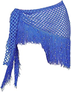 Generic Belly Dance Hip Scarf, Women Sweet Belly Dance Skirt Wrap Bling Sequins Belly Yoga Dancer Costumes