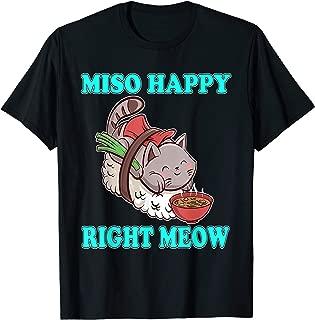 Miso Happy Right Meow Sushi Cat T-Shirt Kawaii Tee