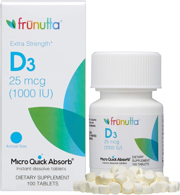 Max 63% OFF Frunutta Vitamin D3 1000 IU Under Tongue Ta Dissolve Bargain sale The Instant