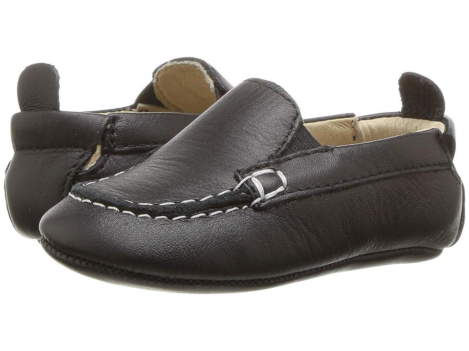 Old Soles Boat Shoe (Infant/Toddler) (Black) Boys Shoes
