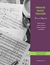 Private Music Teacher Planner and Agenda