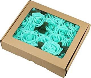 teal blue artificial flowers