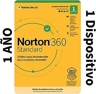 Norton 360 Standard - Software Antivirus para 1 Dispositivo con VPN, Copia de Seguridad de 10GB para PC, Control Parental...