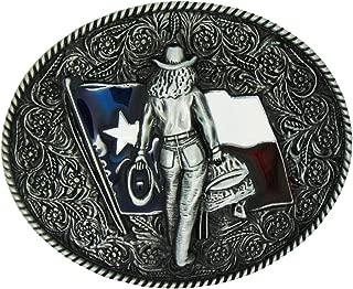 F Fityle Flower Cowboy Embossed Fashion Art Pattern 3.6-3.9 Belt Retro Belt Buckle