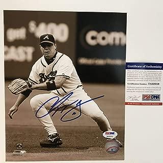Autographed/Signed Chipper Jones Atlanta Braves 8x10 Baseball Photo PSA/DNA COA