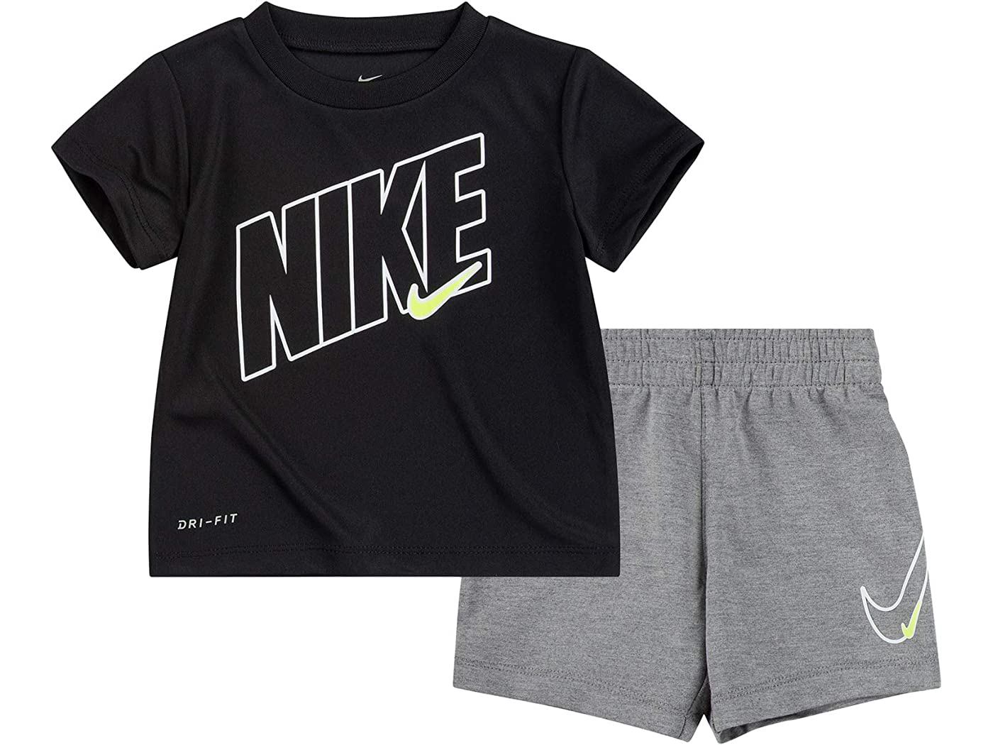 Nike Kids Dri-FIT Graphic T-Shirt and Shorts Two-Piece Set (Infant)