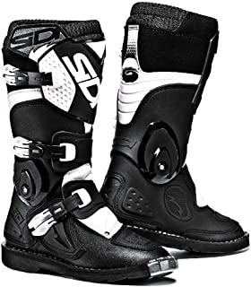 Sidi Youth Kids Flame MX Boots (40/7, Black/White)