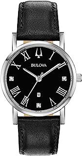 Bulova - Reloj Analógico para Mujer de Cuarzo con Correa en Cuero 96P192