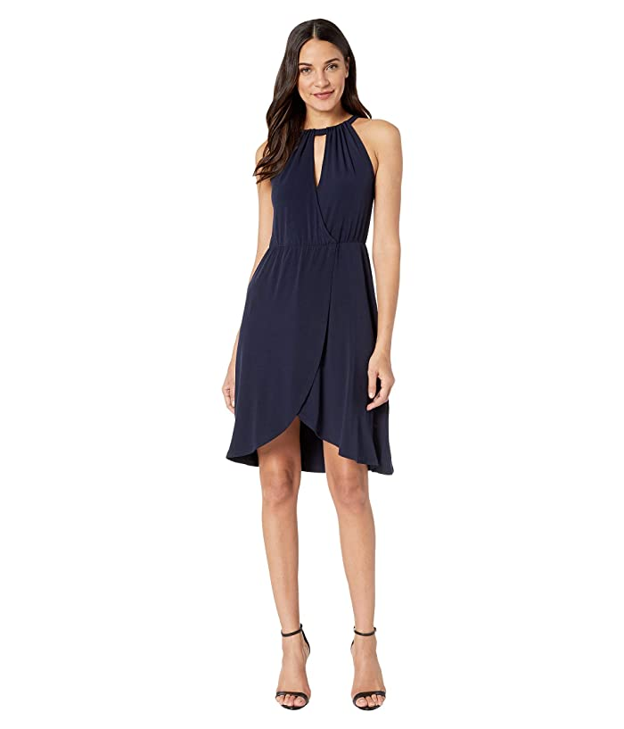 1.STATE  Halter Neck High-Low Dress (Blue Night) Womens Dress
