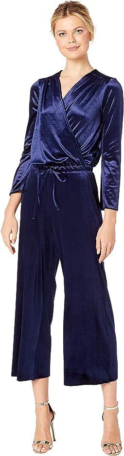 Stretch Panne Velvet Jumpsuit