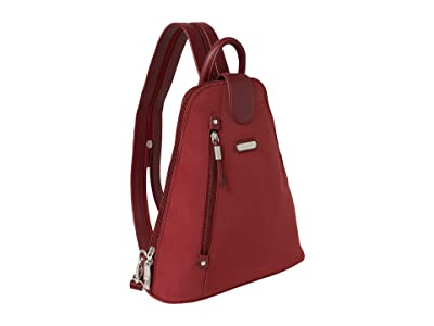 Baggallini New Classic Metro Backpack with RFID Phone Wristlet (Russet Red) Backpack Bags
