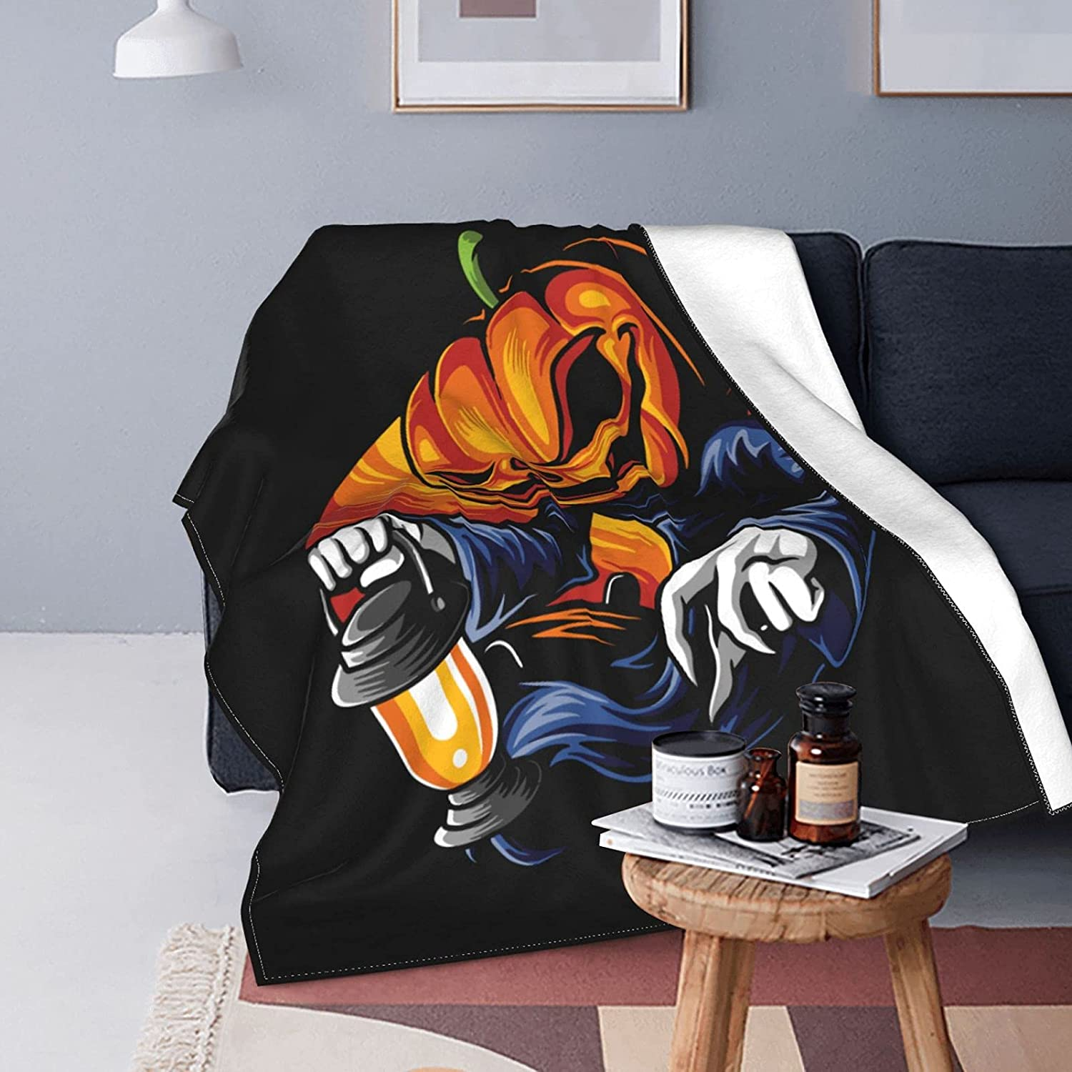 Soft Throw Blanket Halloween Max Max 89% OFF 57% OFF Ghost fo Pumpkin The Carrying Light