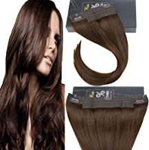 Sunny 16inch Halo Hair Extensions Human Hair 80g 11inch Width Mircale Wire Hair Extension Color Dark Brown Hairpieces