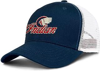 WYFEN in-dian-Motorcycles-Logo Men Women Cool Mesh Baseball Cap Dad Trucker Hat Snapback Adjustable