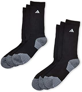 adidas Men's Athletic 6-Pack Crew Socks (Shoe Size 6-12,...