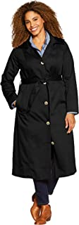 Woman Within Women's Plus Size Water-Resistant Long Trench Coat