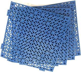 4pcs Modular Interlocking Cushion Floor Tile Mat Mats Drain Pool Shower Home Indoor QIYue Mat 01 4