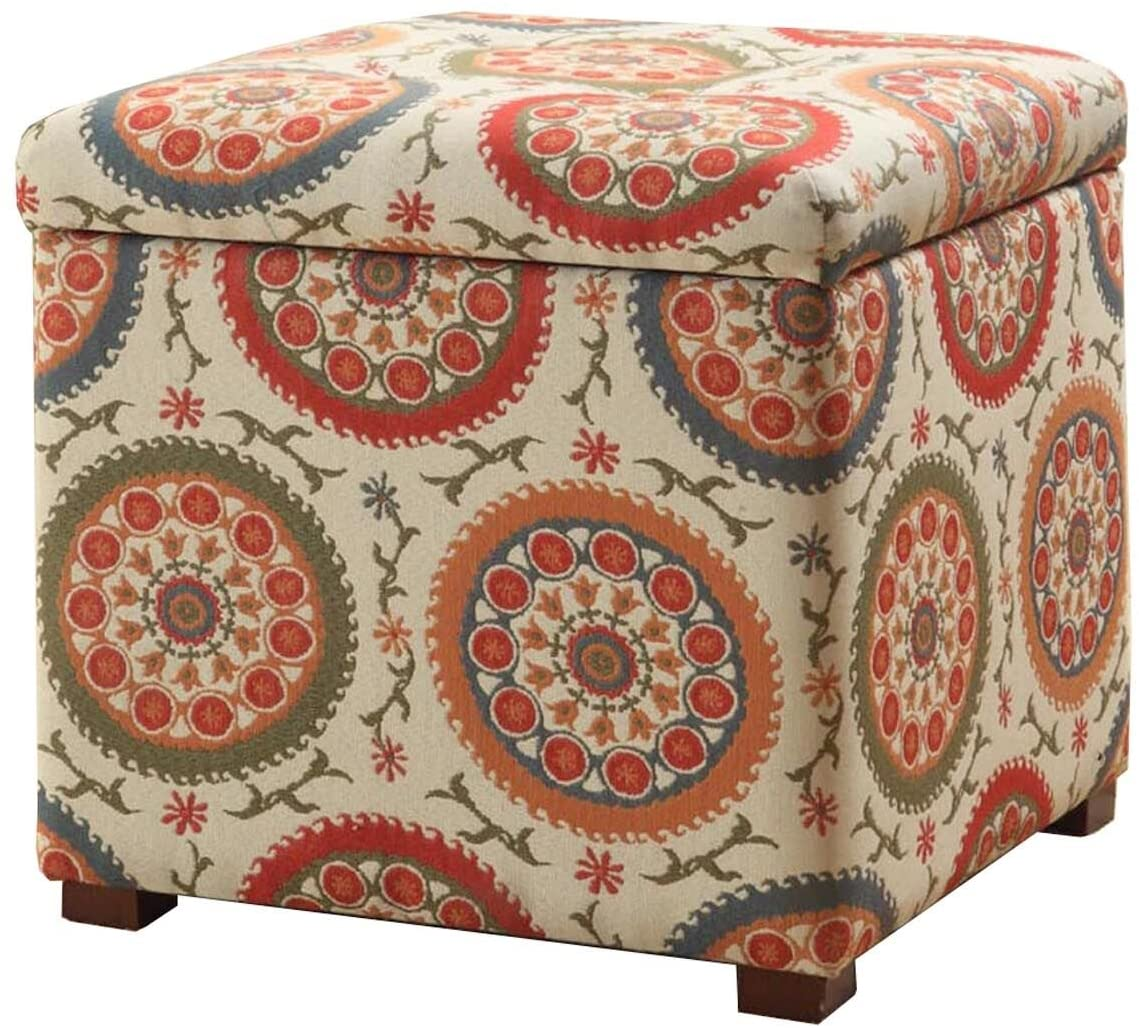 HomePop Square Upholstered Storage Ottoman S New Max 46% OFF popularity Top Removable with