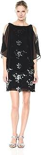Sandra Darren Women's 1 Pc Sleeveless Sequin Chiffon Overlay Dress