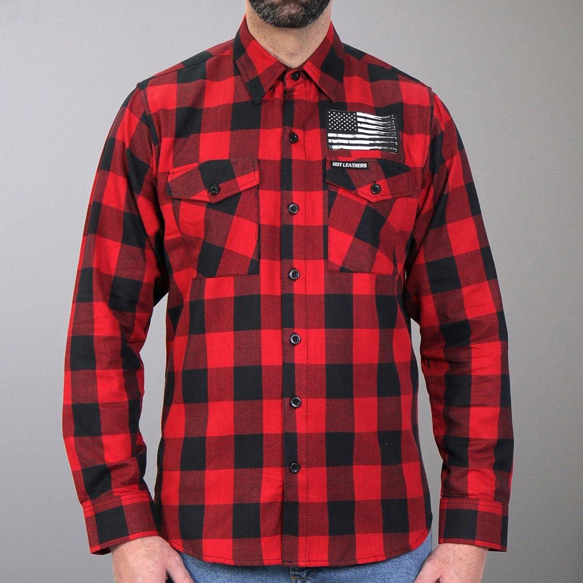 Hot Leathers FLM2110 Men's 'Bullets' Flannel Long Sleeve Shirt