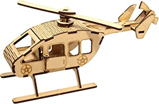 StonKraft Wooden 3D Puzzle Helicopter - Home Decor, Construction Toy, Modeling Kit, School Project - Easy to Assemble