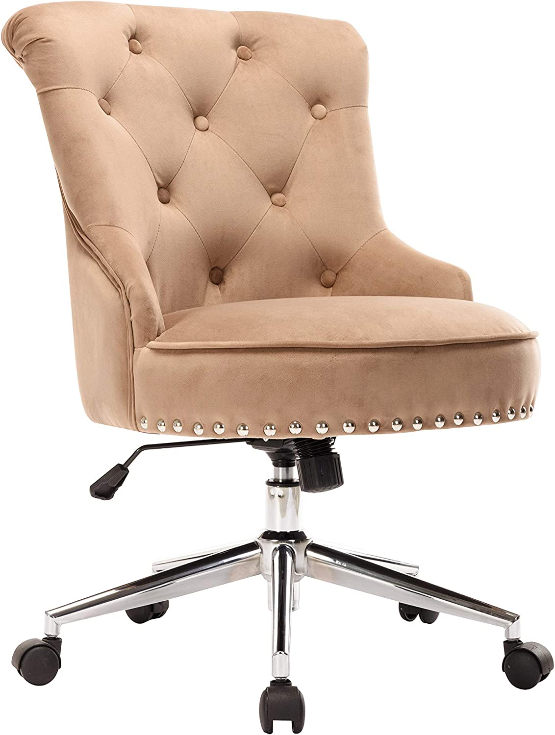 Porthos Home Jaron Office Chair Quality inspection Head Wingback OFFicial site with Nail Tufted