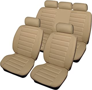 1 Black Quilted Diamond Leather 2 Rhinos-Autostyling FOR CITROEN RELAY 2007 Premium Van Seat Covers Single Drivers And Double Passengers Seat Covers