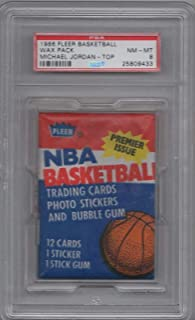 1986 Fleer Basketball Pack Michael Jordan Rookie Card #57 On Top Psa Graded 8 - Basketball Slabbed Rookie Cards