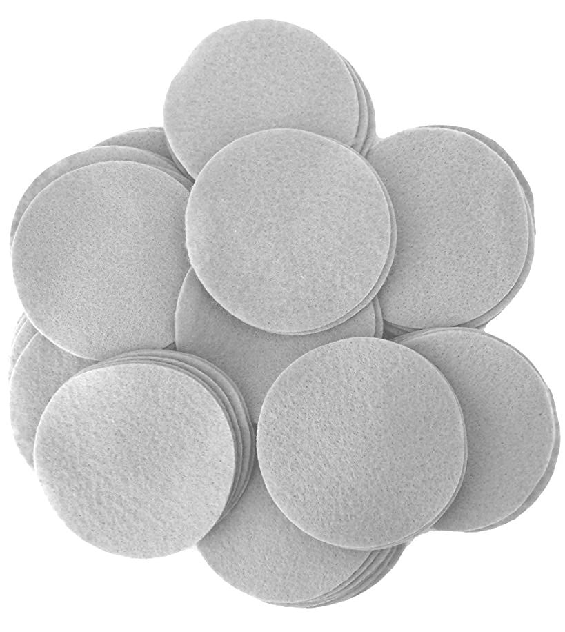 Playfully Ever After 2 Inch Gray 44pc Felt Circles