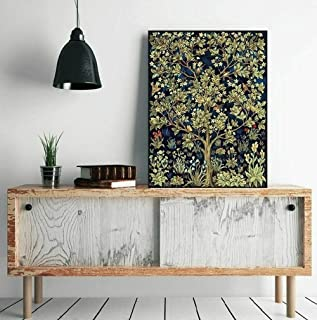 Awesocrafts Paint by Numbers Kits, Tree of Life by William Morris, Birds Flowers Trees Number Painting for Adults and Kids...