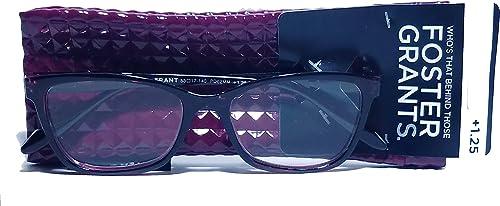 2021 Foster Grant VRL2004 Purple Women's Reading popular Glasses w/Soft popular Case sale