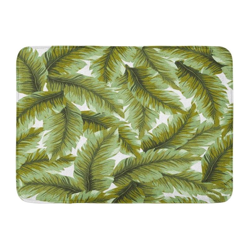 補足賞雨玄関の敷物の敷物の屋外/屋内ドアのマットの葉のすばらしいバナナの葉パターン緑のヤシの熱帯夏の浜の浴室の装飾の敷物16