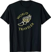 World Traveler Hermes Sandals T-Shirt