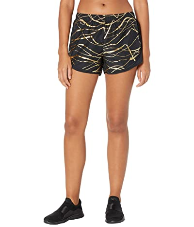 Nike Icon Clash Tempo Shorts (Black/Black/Black/Metallic Gold) Women