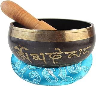 Y La Plena Atenci/ón Calibre 8~17.5 Cm Yoga CAR SHUN Singing Bowl Conjunto De Dise/ño Antiguo con Mazo /& Coj/ín De Seda para La Meditaci/ón La Curaci/ón De Chakra