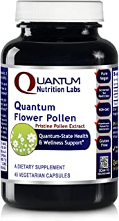 Quantum Flower Pollen, 45 Vegetarian Capsules - Pristine Pollen Extract from Flower Blossoms for Quantum-State Health and Wellness Support