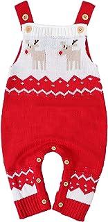 MOMBEBE COSLAND Baby Weihnachten Strick Strampler Rentier Spielanzug 0-24 Monate