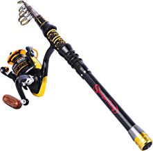 Sougayilang Fishing Rod Reel Combos Telescopic Fishing Pole with Spinning Reel for Adults..