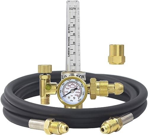 wholesale RX WELD Argon/CO2 Mig Tig Flow Meter wholesale Gas 2021 Regulator Gauge With Gas Hose Welding Weld sale