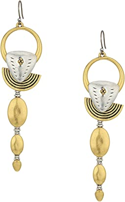 Lucky Brand Linear Hoop Drop Earrings