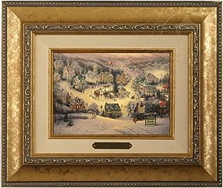 Thomas Kinkade St. Nicholas Circle Brushwork (Gold Frame)