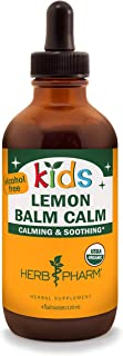 Herb Pharm Kids Certified-Organic Alcohol-Free Lemon Balm Calm Liquid Extract, 4 Ounce