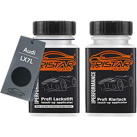 Mg Prime Autolack Lackstift Set Für Audi Lx7l H1 Manhattan Grau Metallic Manhattan Grey Metallic Basislack Klarlack Je 50ml Auto