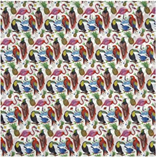 Whimsical Print 'Birds of Paradise' Liberty Lawn Cotton Handkerchief