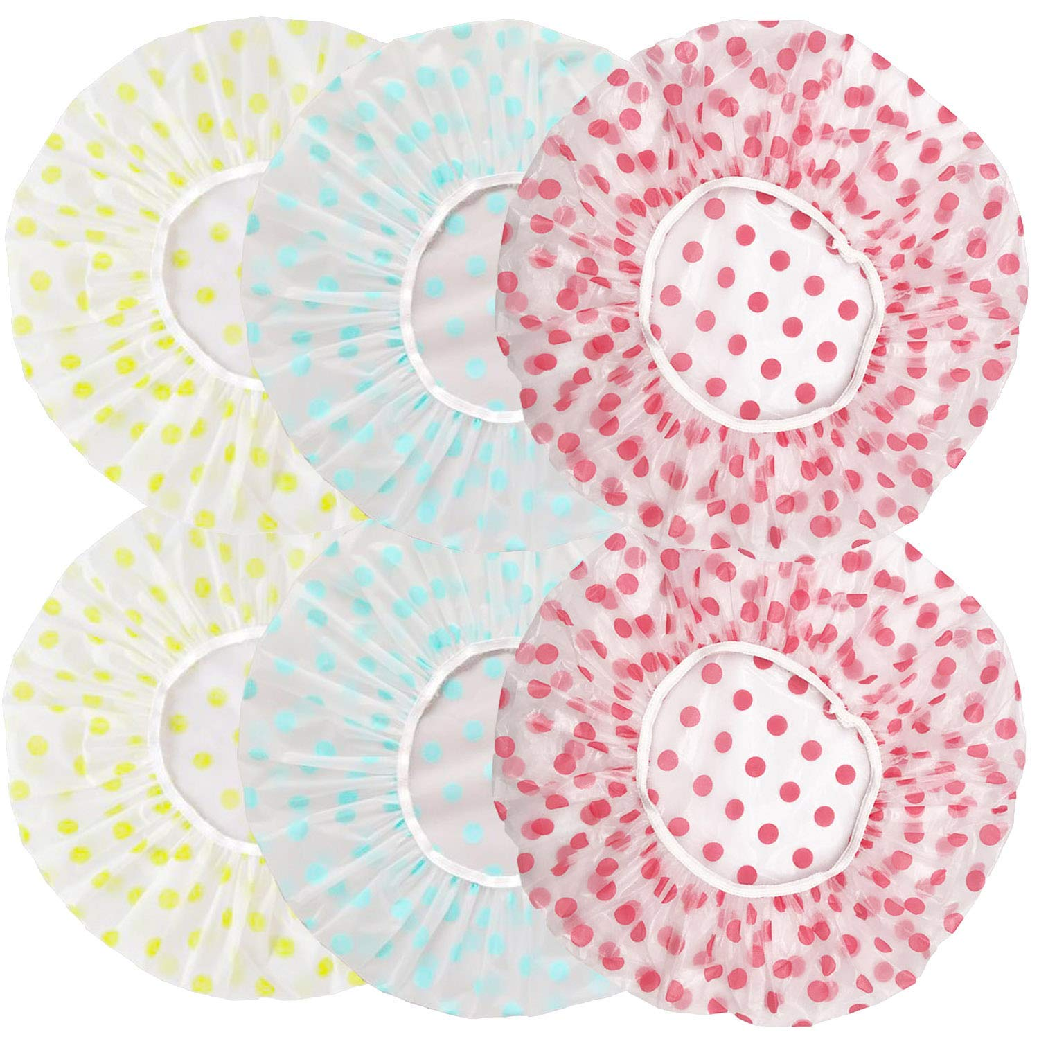 Discount mail order 6 PCS Shower Limited time for free shipping Caps Elastic Hair Cap Bathing Waterproof Reusable